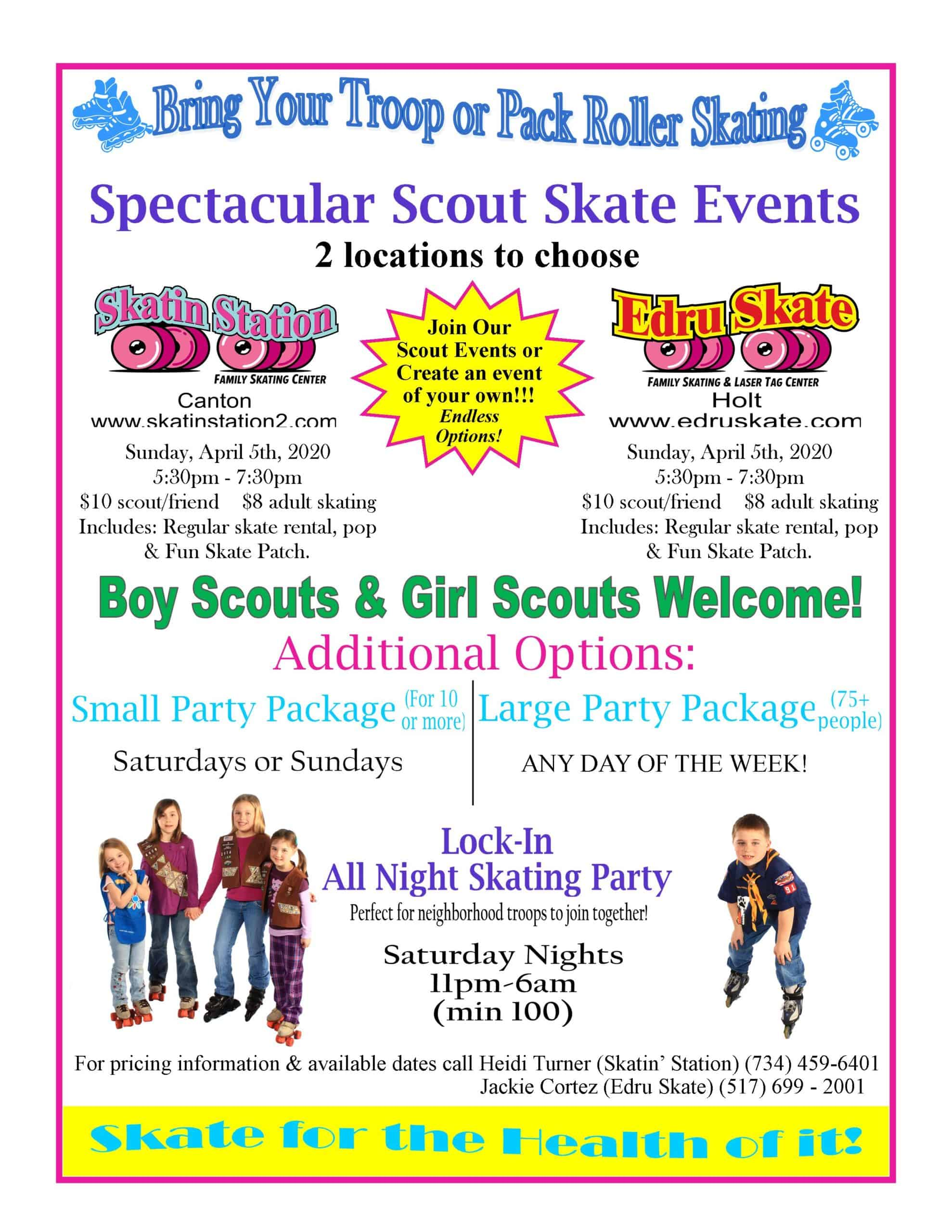 Scouts Flyer-Spectacular Scout Skate - 2020